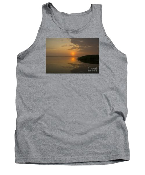 Tank Top featuring the photograph Serene Evening by Inge Riis McDonald