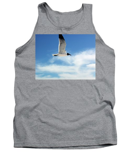 Tank Top featuring the photograph Serenity Seagull by Marie Hicks