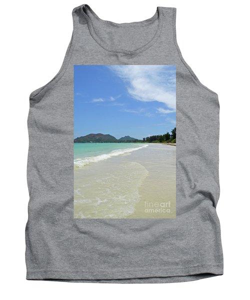 Tank Top featuring the digital art Seychelles Islands 6 by Eva Kaufman