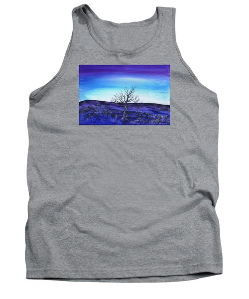 Tank Top featuring the painting Shades Of Blue by Kenneth Clarke