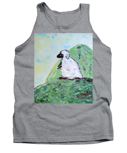 Sheep On A Hill Tank Top