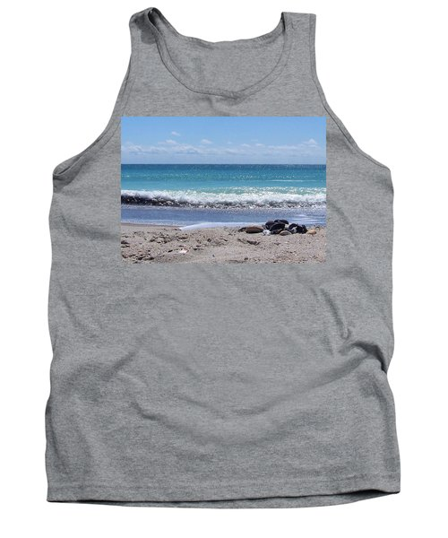 Tank Top featuring the photograph Shells On The Beach by Sandi OReilly