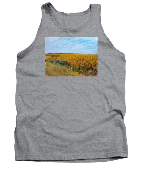 Sunny Faces Tank Top by Helen Campbell