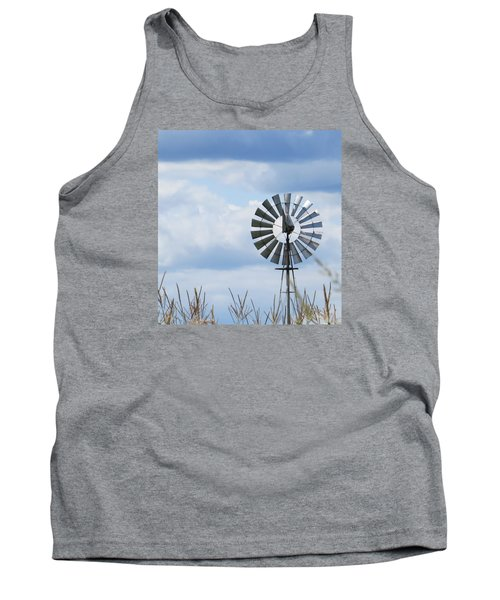 Tank Top featuring the photograph Shiny Windmill by Jeanette Oberholtzer