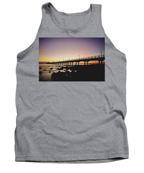 Shorncliffe Pier At Dawn Tank Top