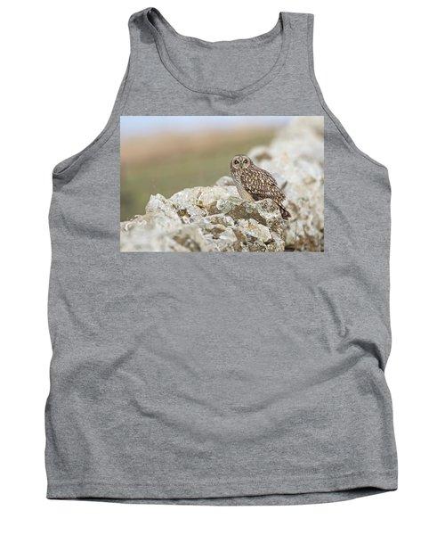 Short-eared Owl In Cotswolds Tank Top