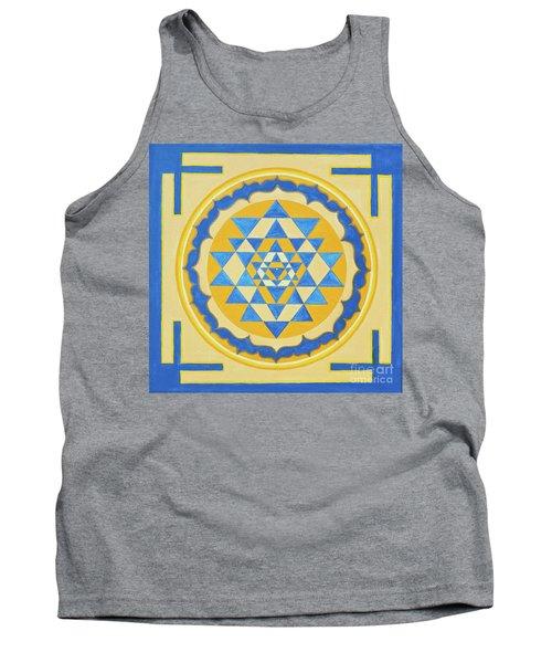 Shri Yantra For Meditation Painted Tank Top