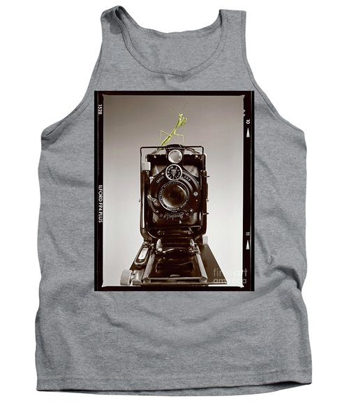 Tank Top featuring the photograph Shutterbug Mantis by Martin Konopacki