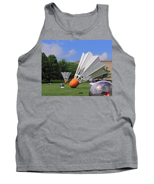 Shuttlecock Visitors Tank Top by Christopher McKenzie