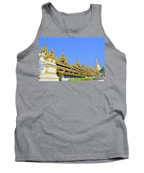 Tank Top featuring the digital art Shwedagon Pagoda  by Eva Kaufman