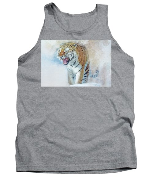 Siberian Tiger In Snow Tank Top by Brian Tarr