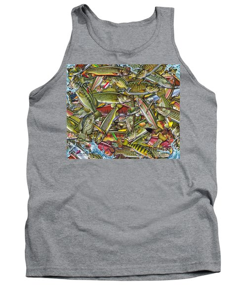 Side Fish Collage Tank Top