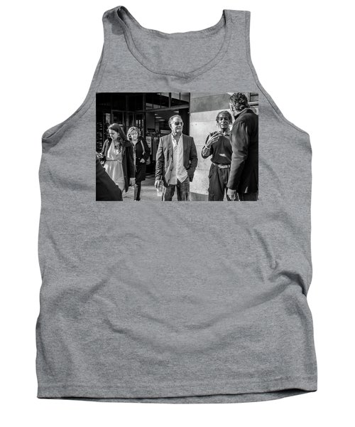 Tank Top featuring the photograph Sidewalk Circulation by David Sutton