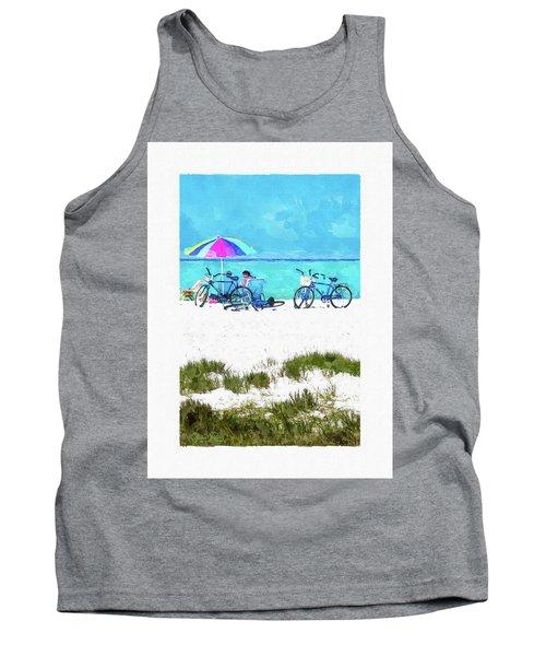 Siesta Key Beach Bikes Tank Top