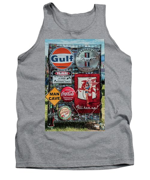Tank Top featuring the photograph Sign Rack by Trey Foerster
