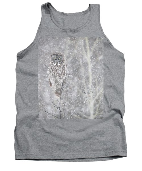 Tank Top featuring the photograph Silent Snowfall Portrait by Everet Regal