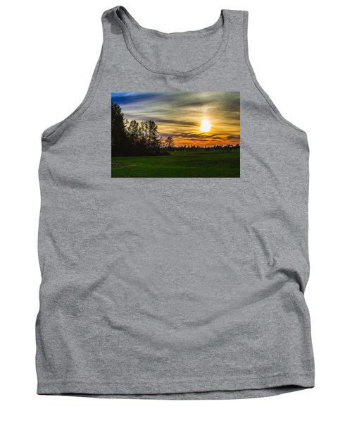 Silhouette And Sunset Tank Top