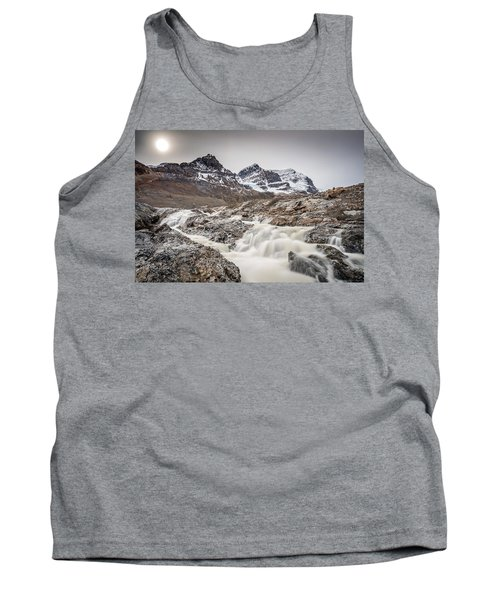 Tank Top featuring the photograph Silky Melt Water Of Athabasca Glacier by Pierre Leclerc Photography