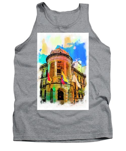 Silly Hall, Cuenca, Ecuador Tank Top by Al Bourassa