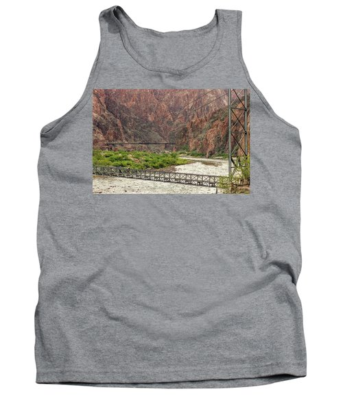 Silver And Black Bridges Over The Colorado, Grand Canyon Tank Top