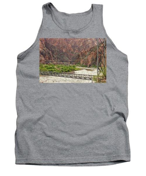 Silver And Black Bridges Over The Colorado, Grand Canyon Tank Top