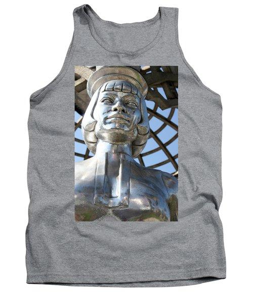 Silver Anna May Wong Tank Top