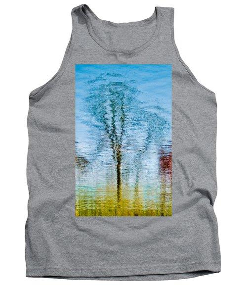 Silver Lake Tree Reflection Tank Top by Michael Bessler