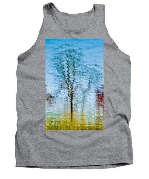 Silver Lake Tree Reflection Tank Top