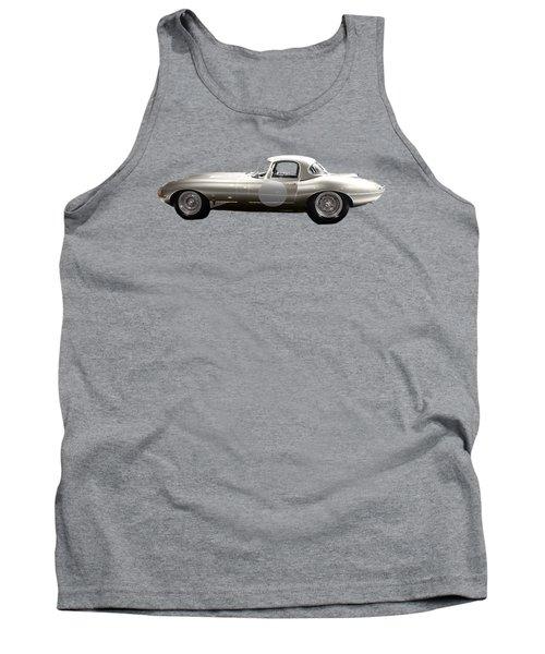 Silver Sports Car Art Tank Top