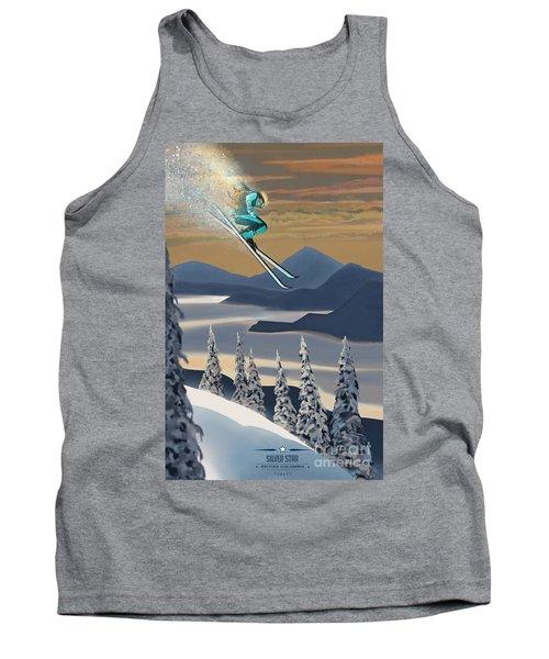 Silver Star Ski Poster Tank Top