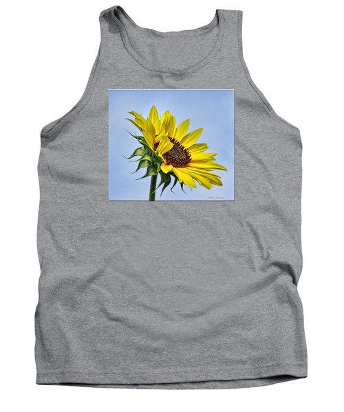 Single Sunflower Tank Top by Mikki Cucuzzo