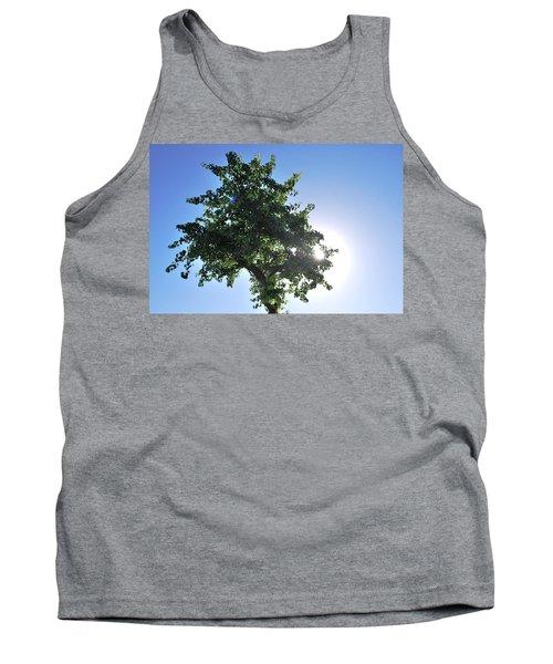 Single Tree - Sun And Blue Sky Tank Top by Matt Harang