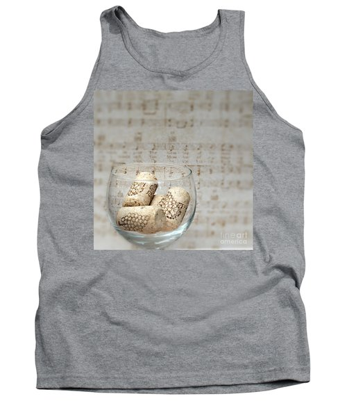 Sipping Wine While Listening To Music Tank Top