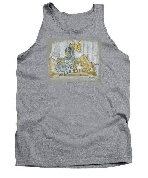 Tank Top featuring the drawing Sisters  by Carol Wisniewski