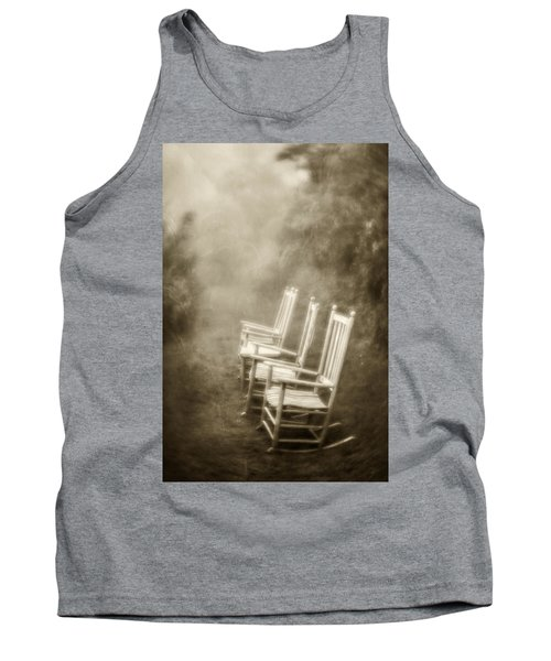 Sit A Spell-sepia Tank Top