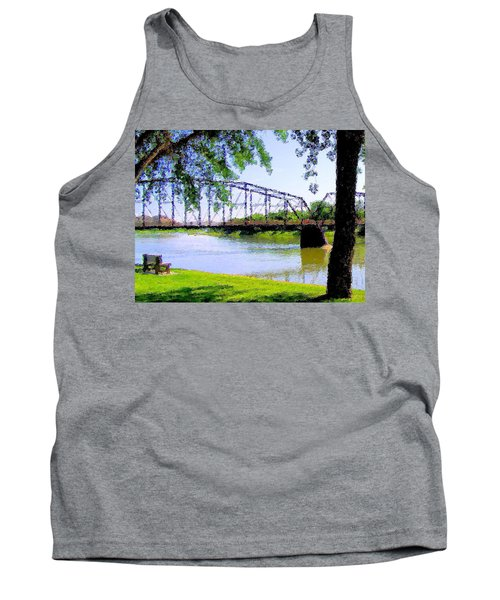 Tank Top featuring the photograph Sitting In Fort Benton by Susan Kinney