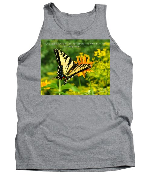 Sitting Pretty Giving Tank Top by Diane E Berry