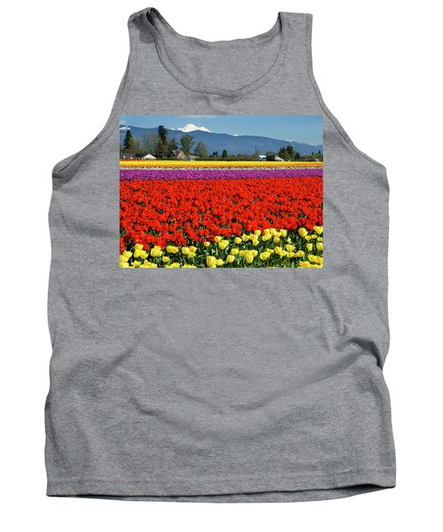 Skagit Valley Tulip Fields Tank Top