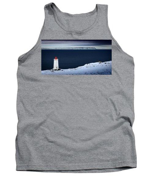 Skardsviti Lighthouse, Iceland Tank Top