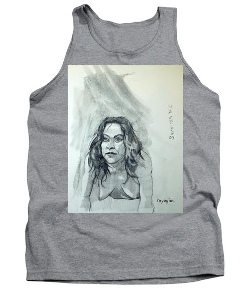 Tank Top featuring the painting Sketch For Sera.10.01 by Ray Agius
