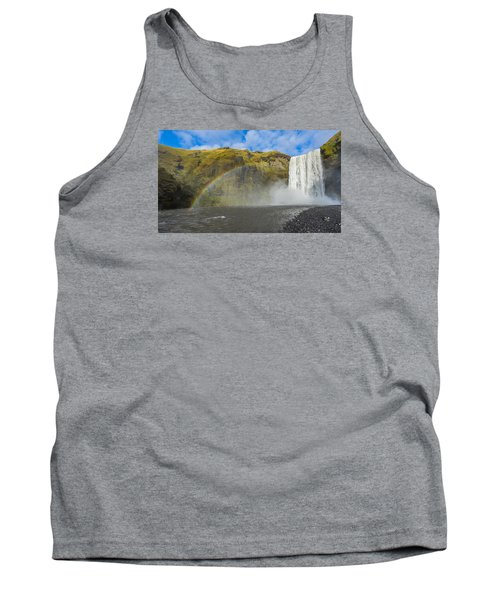 Tank Top featuring the photograph Skogafoss Rainbow by James Billings