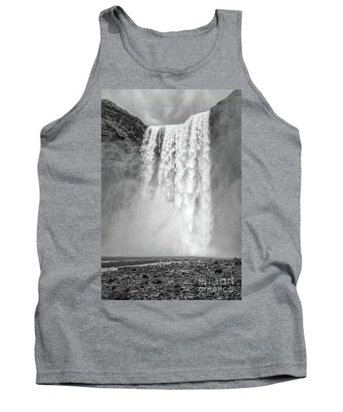Tank Top featuring the photograph Skogafoss Waterfall Iceland by Edward Fielding