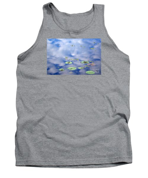 Tank Top featuring the photograph Sky And The Lily Pads by Lila Fisher-Wenzel