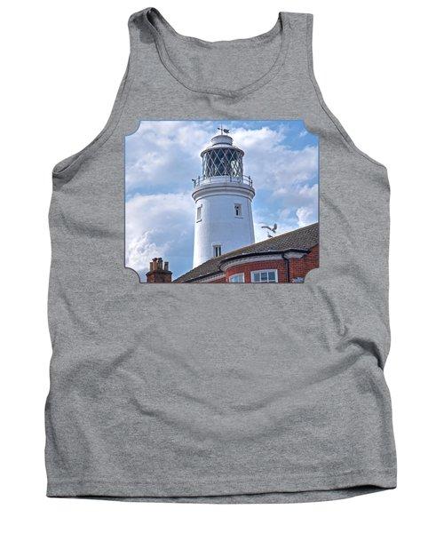 Sky High - Southwold Lighthouse Tank Top by Gill Billington
