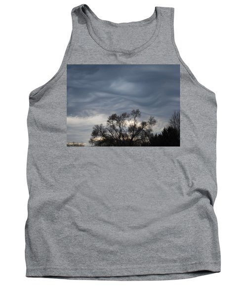 Tank Top featuring the photograph Sky Of Ribbons by Ramona Whiteaker