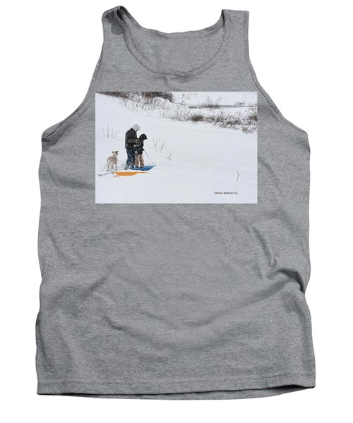 Tank Top featuring the photograph Sledding by Denise Romano