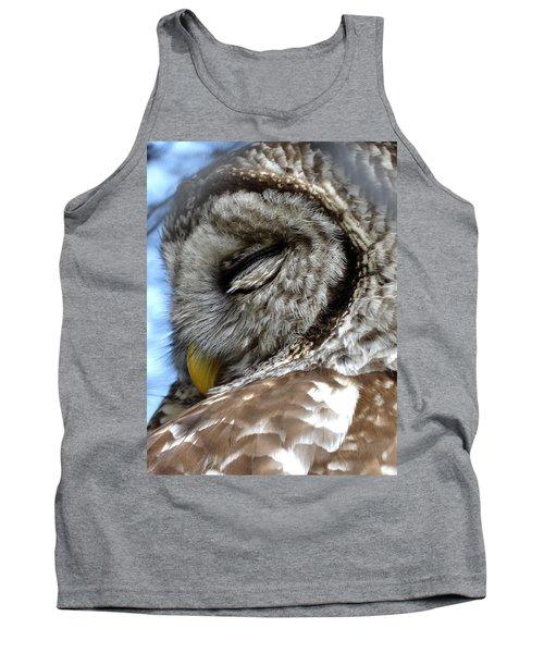 Sleeping Barred Owl Tank Top