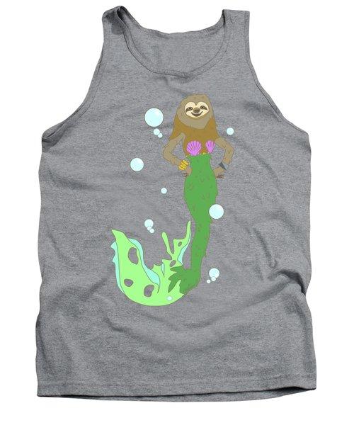 Sloth Mermaid Tank Top