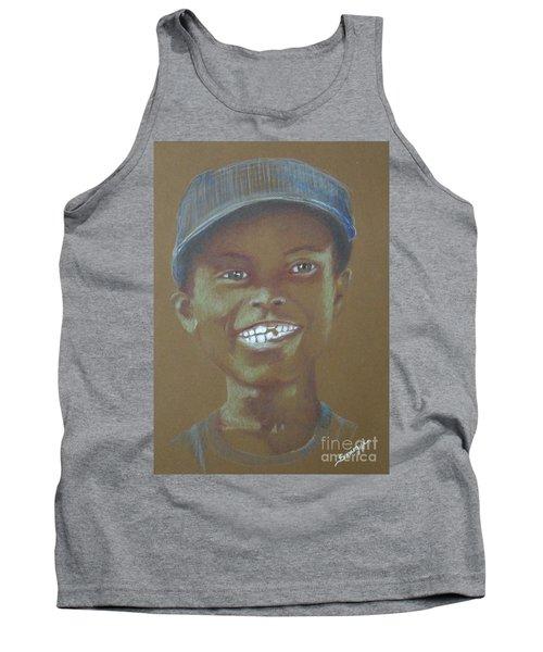 Small Boy, Big Grin -- Retro Portrait Of Black Boy Tank Top