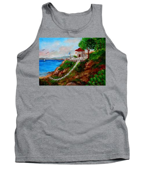 Small Church In Greece Tank Top